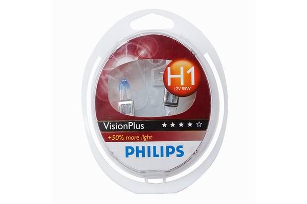Set de 2 becuri H1 12V 55W P14,5s VISION PLUS