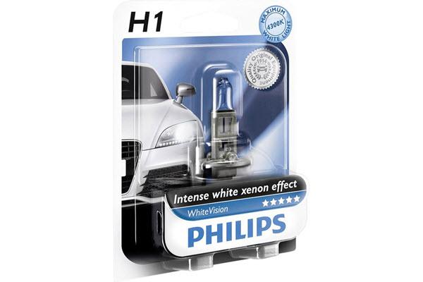 Bec H1 12V 55W P14,5s WHITE VISION (BLISTER)